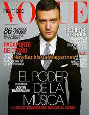 Spanish Vogue Hombre 11/10,Justin Timberlake,November 2010,NEW