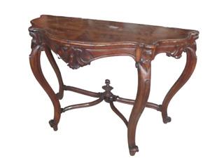 Console in noce Luigi Filippo - epoca 1850 ca - consolle