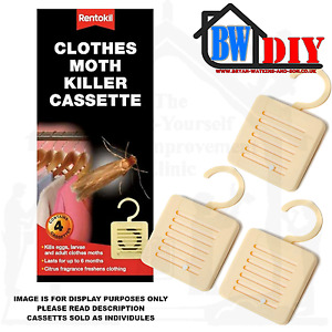Rentokil Moth Killer Hanging Cassette units Non Scented Insecticide Various