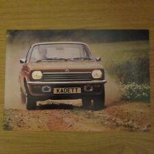 OPEL KADETT Coupe Estate Saloon UK Market Original Car Sales Brochure 1970s