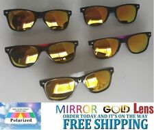 100% UV400 Plastic Mirrored Sunglasses for Women