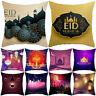 HK- FT- BH_ Eid Mubarak Square Throw Pillow Case Cushion Cover Ramadan Sofa Bedd