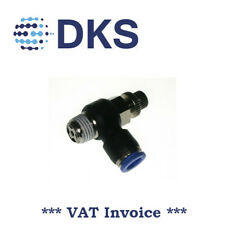 Air Flow Valve Push In Pneum Fittings 1/8 BSPT to 8mm Fitting Speed Contr 001768