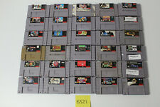 30 Super Nintendo SNES Games Mario World Final Fantasy II Street Fighter Alpha 2