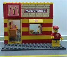 LEGO CUSTOM MOC CITY McDonals RESTAURANT MINIFIG Drive True PIZZA PIE
