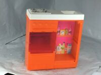 Barbie Beach Dream House Orange Kitchen Stove Fridge Oven Sink Replacement FS