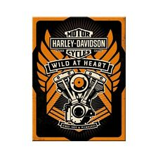 Harley Davidson Motorcycles Engine Wild At Heart Novelty Fridge Magnet