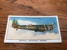 wills cigarette card -  bristol blenheim bomber !