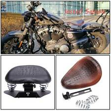 Motorcycle Solo Leather Spring Seat Waterproof Fit For Bobber Sportster Chopper(Fits: Mastiff)