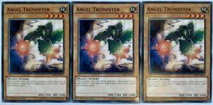 X3 YUGIOH ANGEL TRUMPETER SHVI-EN001 1ST EDITION COMMON CARDS