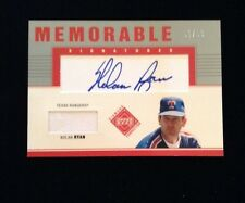 NOLAN RYAN ~AUTO JERSEY~2002 UD Diamond Connection AUTOGRAPH (HOF) Rangers 50/99