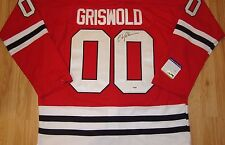 RARE Chicago Blackhawks CHEVY CHASE CLARK GRISWOLD SIGNED AUTO Jersey COA PSA