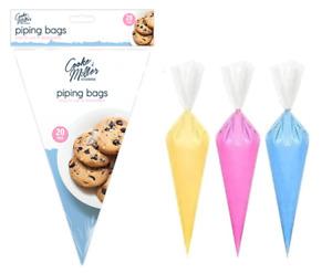20 x Disposable ICING PIPING BAGS Food Decorating Cupcake Baking UK