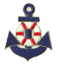 Ecusson ancre patche Marine patch marin bateau thermocollant brodé