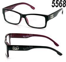New DG Clear Lens Square Frame Eye Glasses Designer Womens Mens Fashion Retro RX