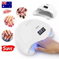 Nail Lamp 48W LEDs Bulbs UV Nail Lamp Dryer Gel Curing Art Gelish With Timer BS