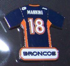 Denver Broncos Peyton Manning blue jersey lapel hat pin NFL