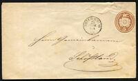 SWITZERLAND UNTER-KULM to SCHOFTLAND 1868 Postal Stationery