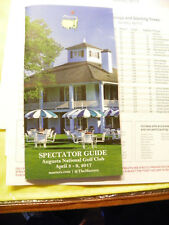 2017 Spectator Guide and Pairing Sheets (Won By Sergio Garcia)