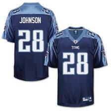 NFL Jersey Tennessee Titans Chris Johnson 28 Navy Football Premier Jersey