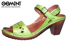 Gemini Damen Riemchen Sandale Leder Grün Sommer Sandalette 31878-070 NEU Schuhe