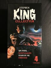 Stephen King Collection 4 VHS Box Set English with dutch subs Rare Christine