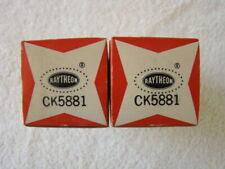 NOS NIB Tung Sol 5881 Vacuum Tubes Matched Pair Same Date Code