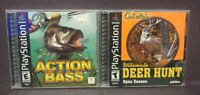 Action Bass + Deer Hunt Playstation 1 2 PS1 PS2 Game Complete Working Tested Lot