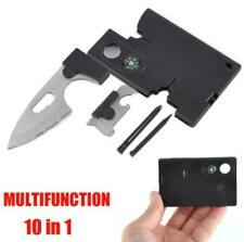 10 in 1 Multifunction Outdoor Survival Pocket Credit Card Knife Camping Tools