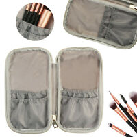 PU Marble Cosmetic Travel Makeup Brush Handbag Case Bag Brush Holder Pouch US