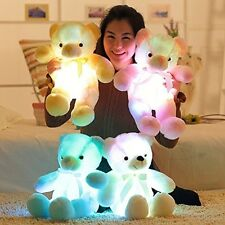 Wewill Brand Creative Light Up LED Inductive Teddy Bear Stuffed Animals Plush