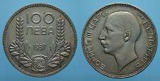 BULGARIA 100 LEVA 1937 BORIS III SPL