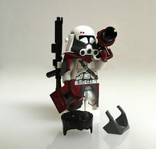 "Lego Star Wars-Custom-Clone comandante ""Bacara"" + Custom Guns, Helmet etc"
