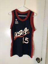 Champion Small 1996 Olajuwon USA Olympic Basketball #15 Jersey