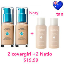 Two COVERGIRL Outlast Stay Fabulous 3 in 1 Foundation Ivory Two Natio Tan