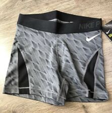 Nike women's pro hypercool Shorts Dark Grey Black white new XS