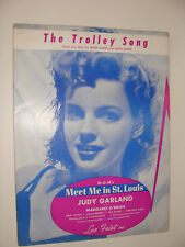 Judy Garland Trolley Song Meet Me In St Louis 1944 sheet music