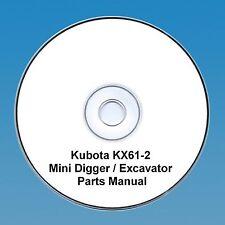 Kubota KX 61-2 Excavator / Digger  - Parts Manual.