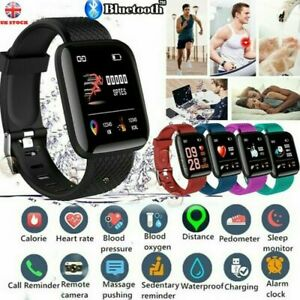 116Plus Smart Watch Bluetooth Heart Rate Blood Pressure Fitness **PROMOTION**