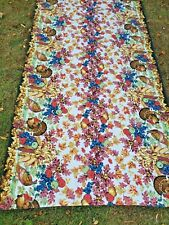 New listing Vintage Thanksgiving Cotton Rectangle Table Cloth - by Wilton Court 00004000