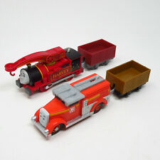Thomas & Friends Trackmaster Mattel Motorized 2013 Harvey Firey Flynn w Trucks