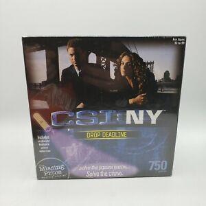 CSI: NY Crime Scene Investigation New York 750 Piece Puzzle Show Stopper NIB
