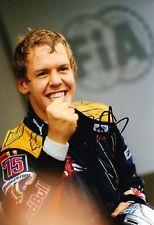 Sebastian Vettel Signed 12X8 Photo FORMULA 1 RACING REDBULL AFTAL COA (3608)