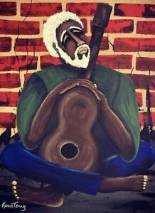 Original  Ethnic Mix Media abstract art  by artist Karen Terry