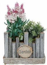 Holz Pflanztopf eckig - 25x18x17cm - Garten Deko Pflanzschale Blumen Topf Kasten
