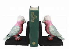 Galah Bird Bookends - Cast Iron Aged Appearance