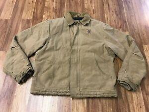 MENS LARGE - Vtg Carhartt Sandstone Arctic Quilted Jacket