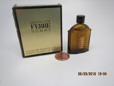 COLLECTIBLE GIANFRANCO FERRE HOMME/MEN EAU de TOILETTE MINI 1/6oz/5mlSplash FULL