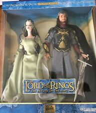 The Lord of the Rings Arwen and Aragorn Barbies NIB Return of the King