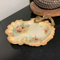 "S. Fielding & Co. 11 1/2"" Royal Devon Handled Scalloped Plate or Tray - Engalnd"